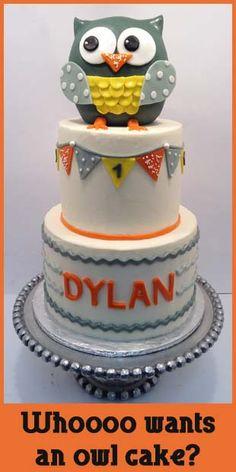 Owl Cake - basic decorating