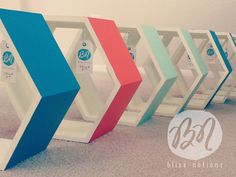 Love the Colors! Personalized Honeycomb Shelf Custom to your room by BlissNotions
