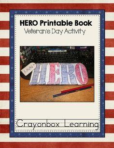 FREE HERO Printable Booklet  {Veteran's Day Activity}