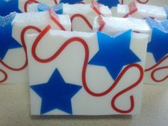 Red, white and blue star patriotic soap by Country Club Soaps