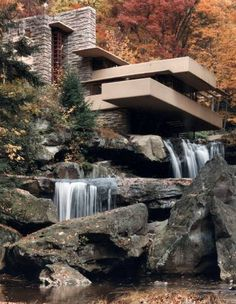 Fallingwater -Frank Lloyd Wright...still one of my favorite architects!