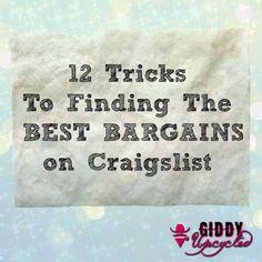 12 Tips for Scoring BIG on Craigslist - by GiddyUpcycled.com