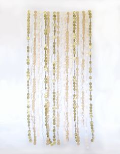 Backdrop - Tissue Garland - Wedding - 6 ft. W x 6 ft. L. $200.00, via Etsy.