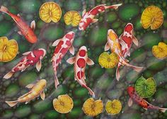 Tranquility Koi Fish Art Print from an original acrylic painting by Irene Owens. £8.99, via Etsy.