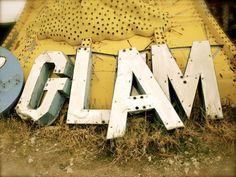 las vegas, vintage signage, letter, modern industrial, vintage signs, glam, rock, old signs, light