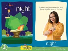 Learn Sign Language » Sign of the Week – Night