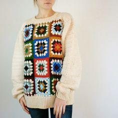 granny square sweater.