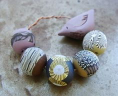 Blooms and Birds Bead Sets  Dusty Roads by humblebeads on Etsy, $25.00