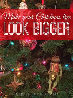 Christmas decorating hack - make you tree look bigger for free!