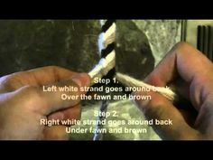 How To Braid 6 Strands Around A Core - YouTube