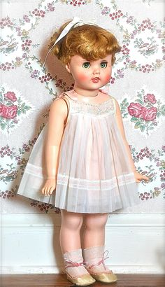 "Vintage Little Girl Toodles Doll 24"" 1960 Near Mint."