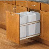 Pull-Out & Built-In Trash Cans - Cabinet Slide Out & Under Sink Kitchen Trash Cans | KitchenSource.com