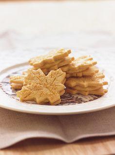 Biscuits feuilles d'érable Recettes   Ricardo
