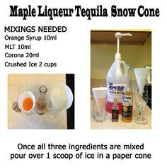 Maple Liqueur Tequila Snow Cone  http://www.canadianmapletequila.com/