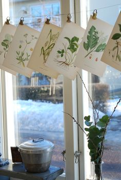 Hanging card Display (I wish the snow outside came with it..)