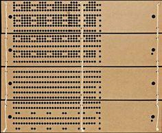music box, punch card