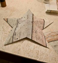 DIY fake driftwood panel star