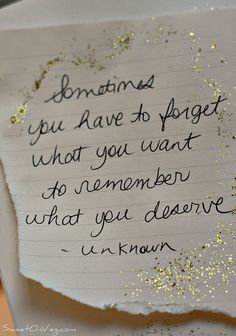 Remember what you deserve!
