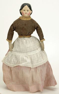 All Original Greiner Papier Mache Doll : Lot 25