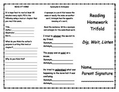 Treasures 2nd Grade Unit 5 Reading Trifolds