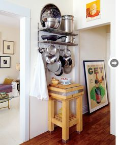 might have to get one of these pot and pan hanger for my small kitchen