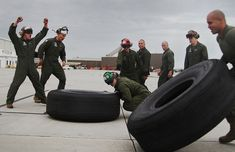 Tire flipping is a workout that will leave your muscles burning.