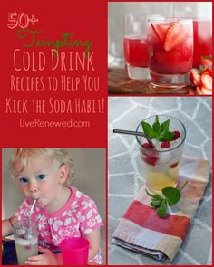 50+ Tempting Cold Drink Recipes to Help You Kick The Soda Habit! cold drinks recipes, soda habit, drink recipes
