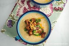 Cheesy Bacon Cauliflower Soup   Slender Kitchen