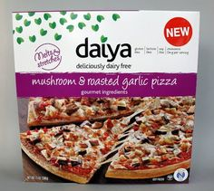 Daiya's new pizzas are a game-changer for the frozen-food aisle! vegan pizza, frozenfood aisl, mushroom roast, frozen pizza, pizzas, roasted garlic, garlic pizza, daiya mushroom, mushrooms