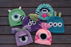 Monster Hat/Girls Hat/Boys Hat/Mike Wazowski Inspired Hat/Monsters Inc Inspired Hats/Crocheted Hat