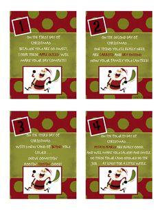 12 days of Christmas  Food Storage