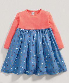 Girls Leaf Print  Dress