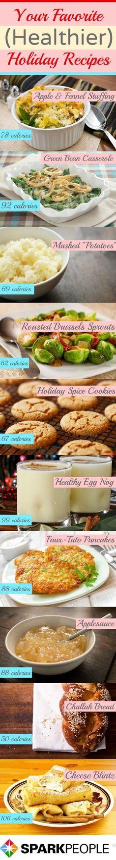 Health(ier) Holiday Favorites   via @SparkPeople #recipe #food