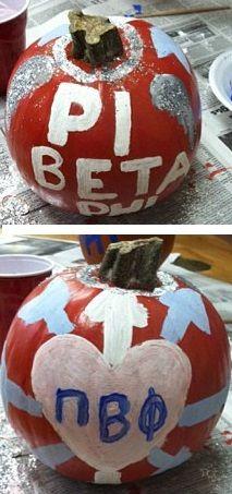 Pi Beta Phi pumpkin #piphi #pibetaphi