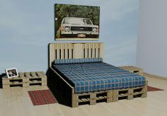 Lovely, a pallet bed