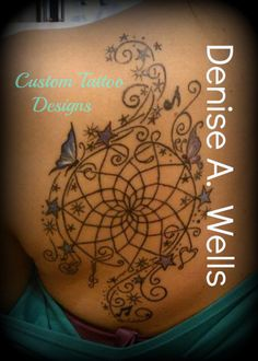 Dreamcatcher Tattoo Design by Denise A. Wells ***Message me on Facebook to get a Price Quote.