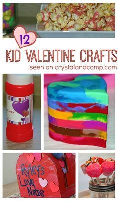 12 Kid Valentine Crafts