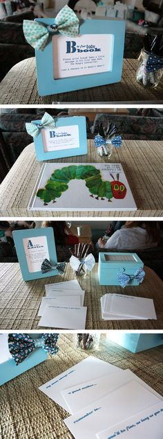 Great ideas for a baby shower - especially the advice cards!