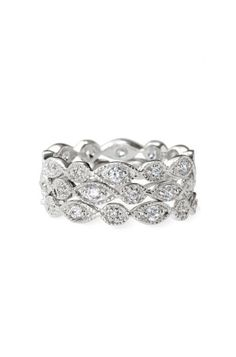 Stackable Silver & Cubic Zirconium Rings   Stackable Deco Rings   Stella & Dot