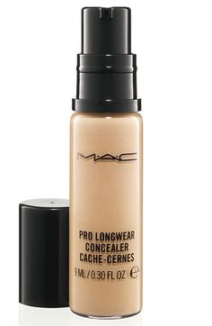 MAC 'Pro Longwear' Concealer - this doesn't crease. I use it over dark spots, under my eye to cover dark circles  or to cover blemishes. It's sticky and doesn't move. I love this product. I use NC 20.