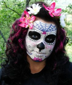 day of the dead skull DIY face paint