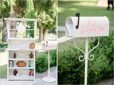 wedding card box ideas, dont put p.s I love you on it but i like the idea of a mailbox for cards