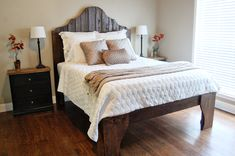 DIY Scrap Wood Bed The Accent Piece bed frames, bedroom furniture, pallet, diy headboards, accent piec, deck, guest rooms, rustic wood, diy projects