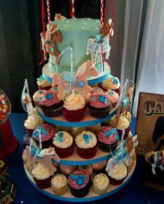Carousel Cupcake Display