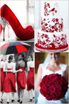 Red Wedding Inspiration Board.