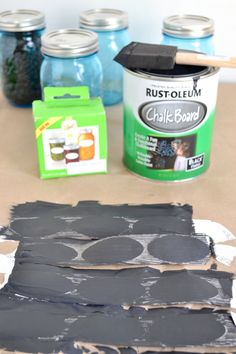 What a great idea. I had a bunch of old stickers and labels for file folders that I never used. I painted them with chalk paint in grey and black and they worked beautifully.