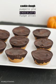 pumpkin pie fudge cookie dough chocolate bites