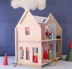 6 wonderful dollhouse kits to help inspire building + construction skills too.