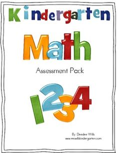 Commone Core Kinder Math Assessment