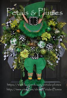 "St Patricks Day Wreath-""St. Patty Leprechaun"""